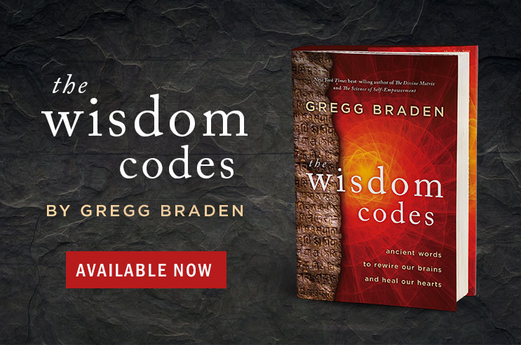A picture of the hardcover book The Wisdom Codes by Gregg Braden